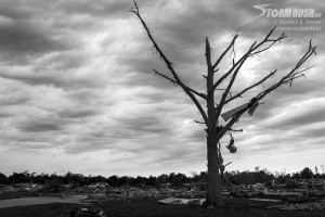 Moore damage in black and white
